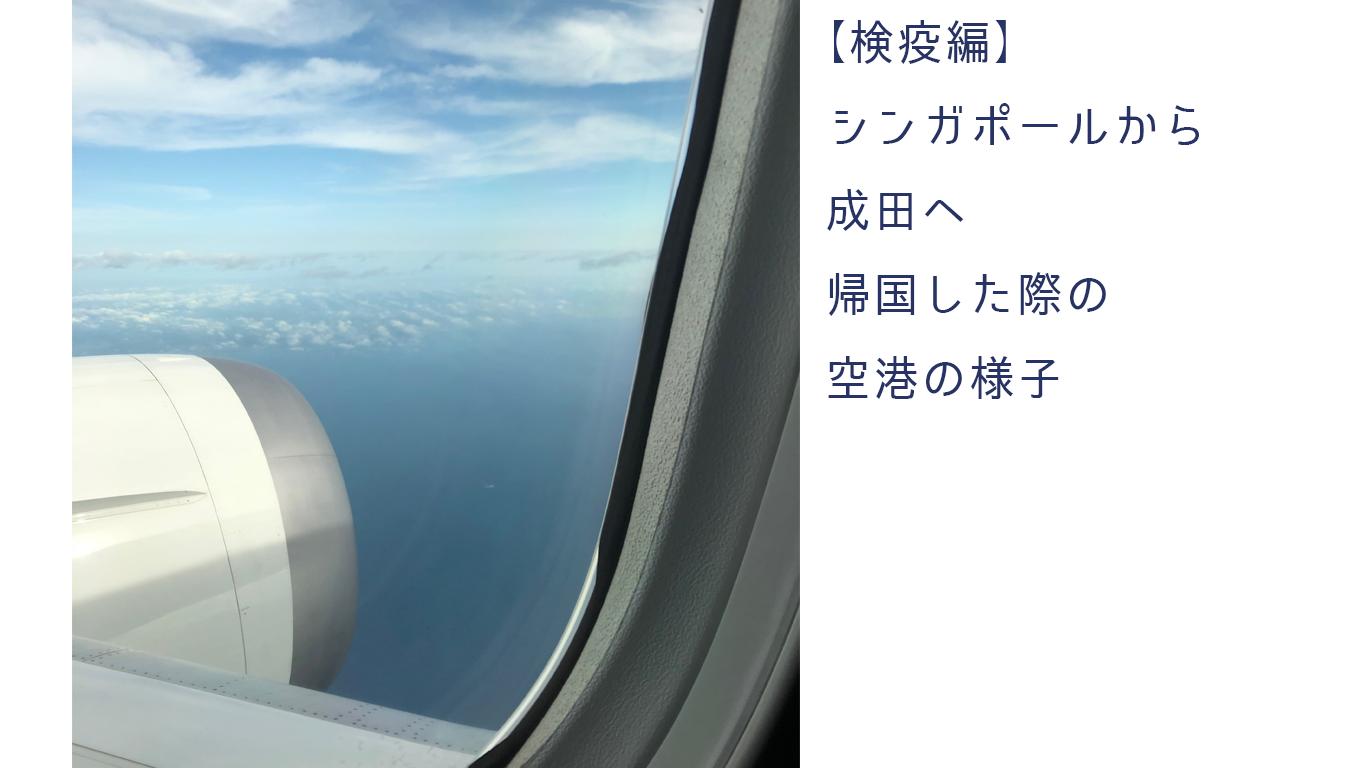 【検疫編】シンガポールから成田へ帰国した際の空港の様子